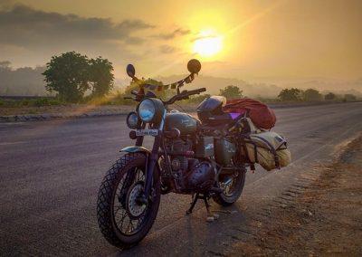 Motorrad auf highway